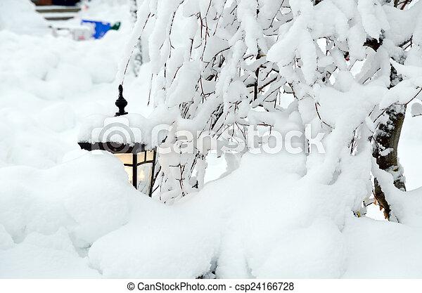 Winter in town - csp24166728