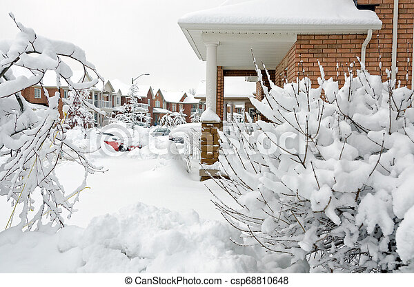 Winter in town - csp68810648