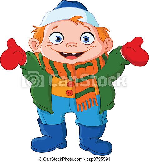 winter kid cute kid in winter vector clip art search illustration rh canstockphoto com cute kids clip art free cute kid clipart for teachers