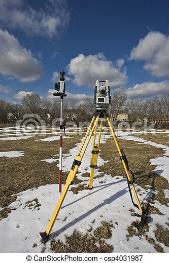 Winter land surveying - csp4031987