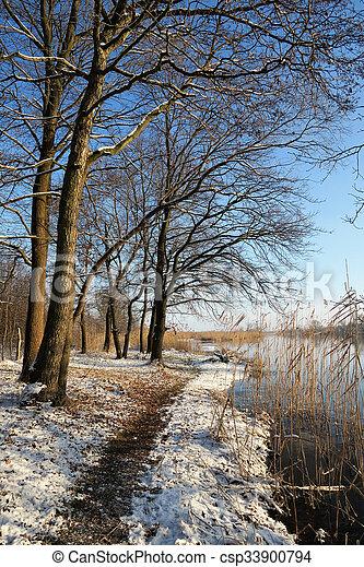 Winter landscape at Havel River. - csp33900794