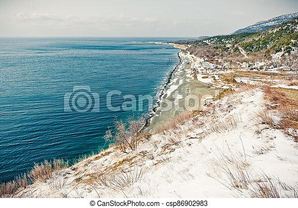 Winter landscape, Black sea - csp86902983