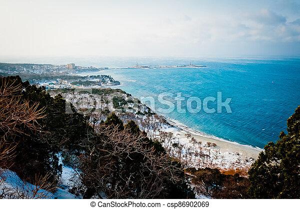 Winter landscape, Black sea - csp86902069