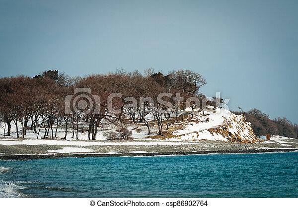 Winter landscape, Black sea - csp86902764