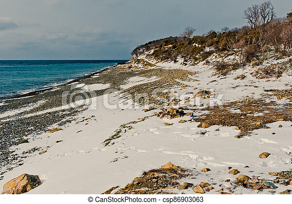 Winter landscape, Black sea - csp86903063