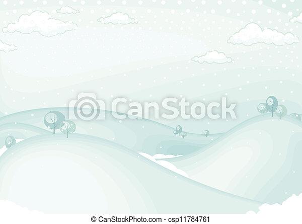 Winter landscape  - csp11784761