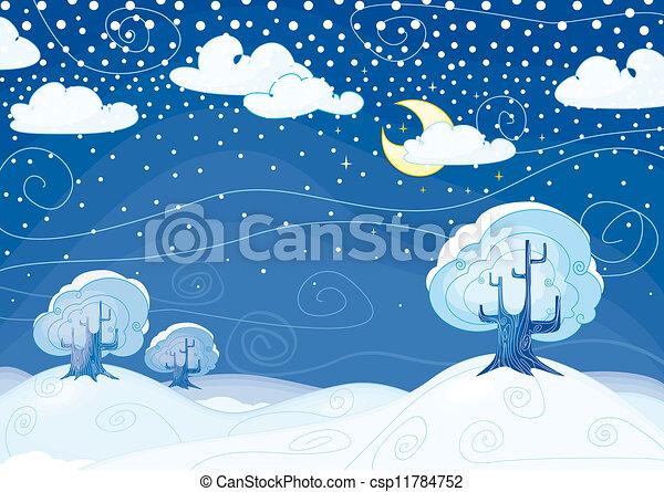 Winter landscape  - csp11784752