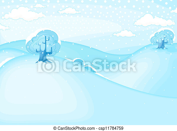 Winter landscape  - csp11784759