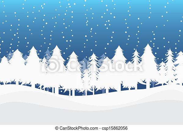 Winter Landscape - csp15862056