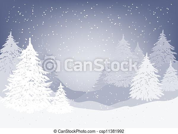 Winter landscape - csp11381992