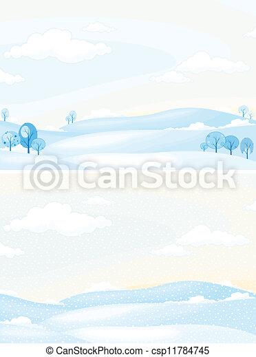 Winter landscape  - csp11784745