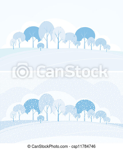 Winter landscape  - csp11784746