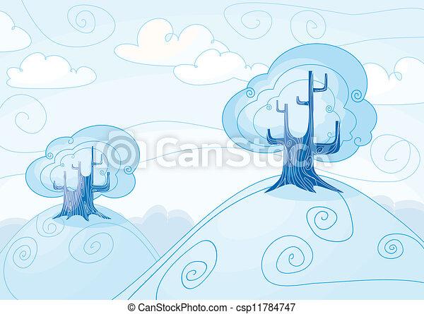 Winter landscape  - csp11784747