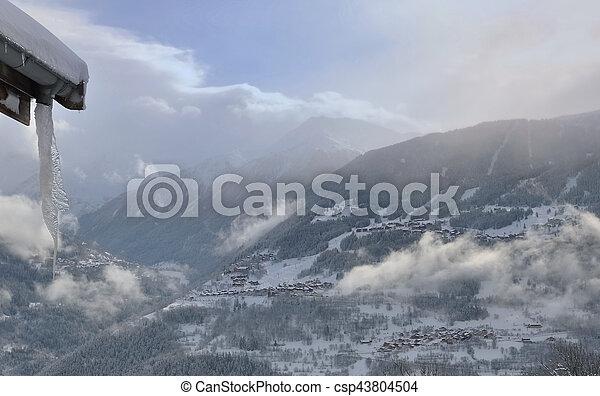 winter landscape in mountain - csp43804504