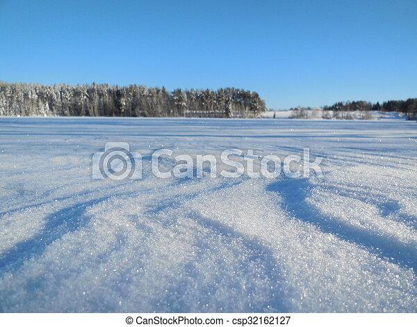 Winter landscape in the Karelia - csp32162127