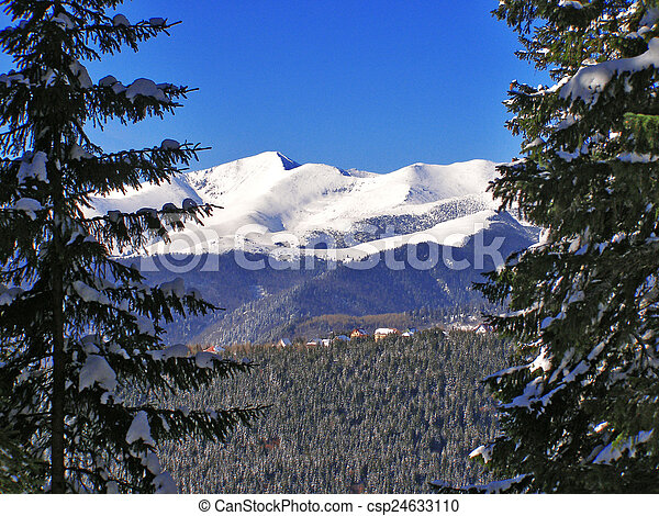 Winter landscape in the mountains - csp24633110