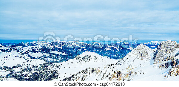 Winter landscape in the mountains - csp64172610