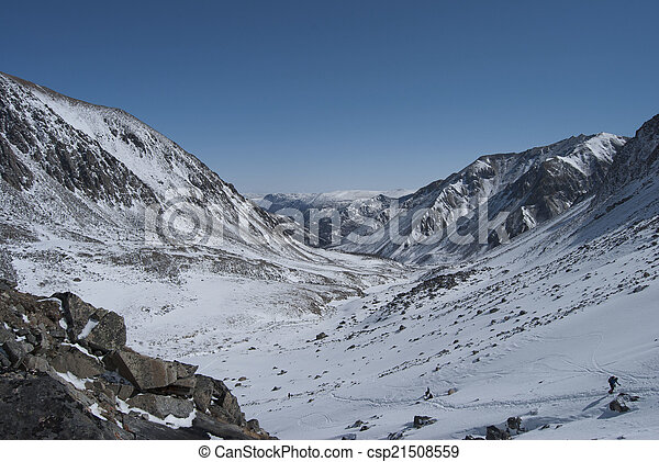 Winter landscape in the mountains - csp21508559
