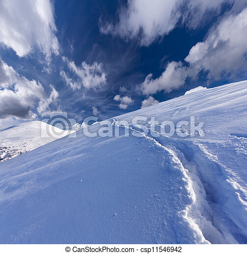 winter landscape in the mountains - csp11546942