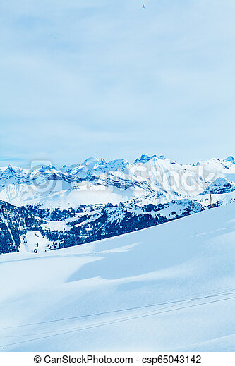 Winter landscape in the mountains - csp65043142
