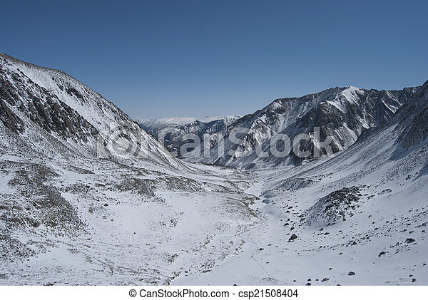 Winter landscape in the mountains - csp21508404
