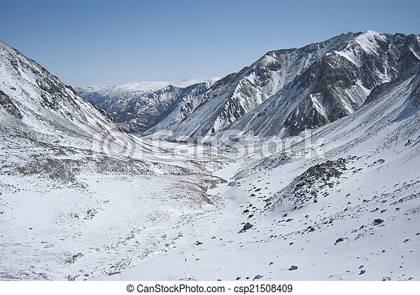 Winter landscape in the mountains - csp21508409