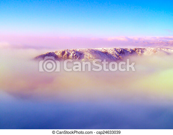Winter landscape in the mountains - csp24633039