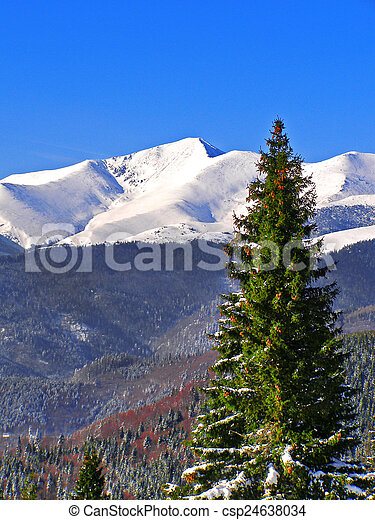 Winter landscape in the mountains - csp24638034