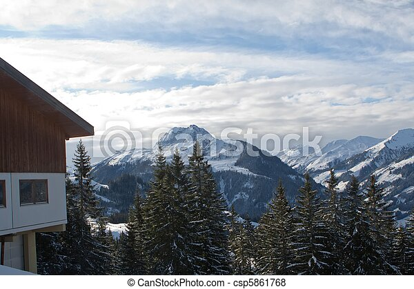 Winter landscape - csp5861768
