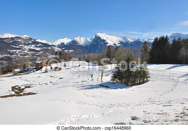 winter landscape - csp16448960