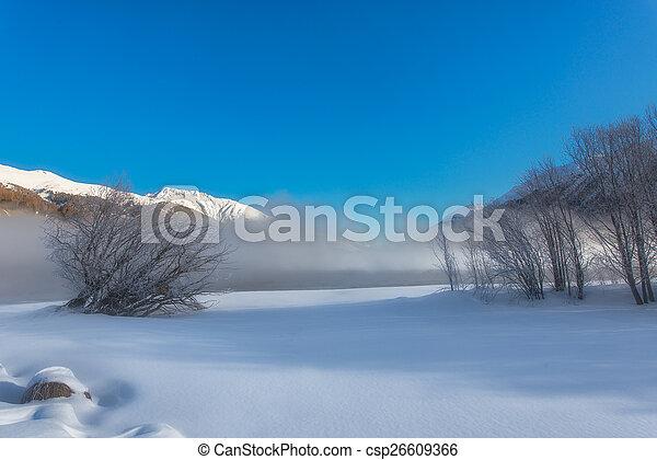 Winter landscape - csp26609366
