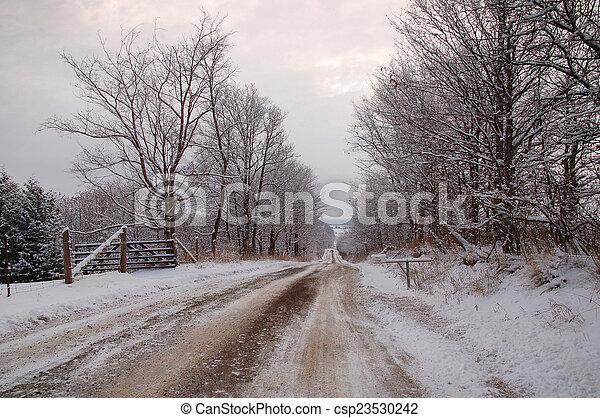 Winter landscape - csp23530242