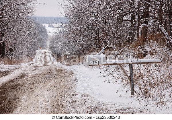 Winter landscape - csp23530243