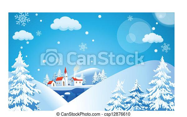 Winter landscape - csp12876610