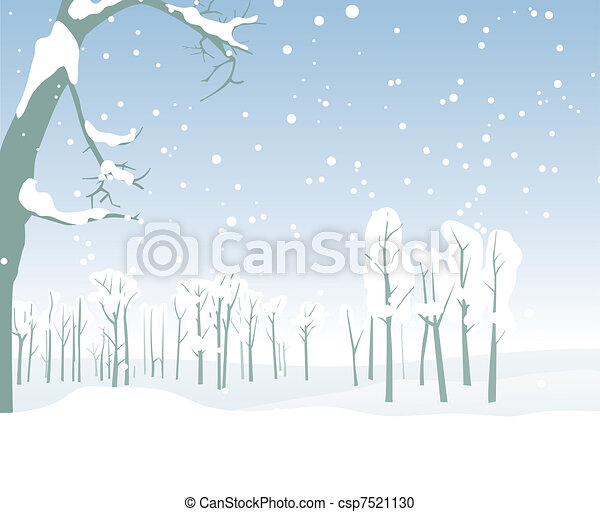 winter landscape - csp7521130