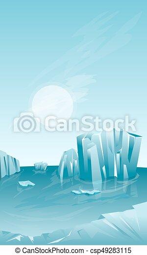 Winter landscape with iceberg - csp49283115
