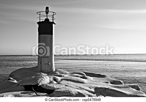 Winter Lighthouse Landscape - csp5478948