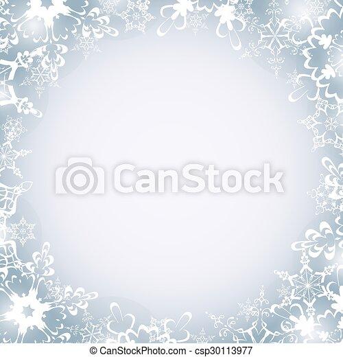Winter luxury round frame with snowflakes. Beautiful winter luxury ...