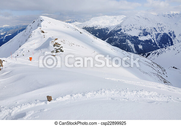 Winter mountain landscape in the Alps - csp22899925