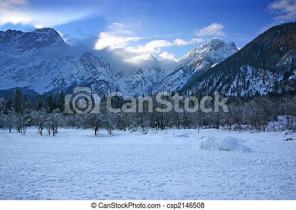 Winter mountain landscape - csp2146508
