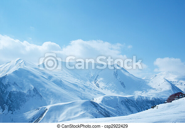 Winter mountains on a bright sunny day - csp2922429