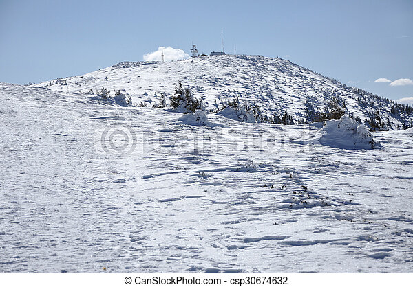 Winter mountains on a bright sunny day - csp30674632