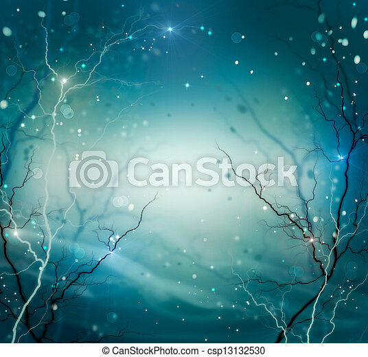 Winter Nature Abstract Background. Fantasy Backdrop - csp13132530