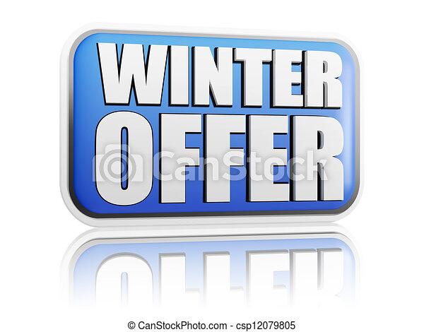 winter offer blue banner - csp12079805