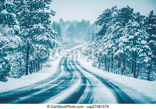 Winter on the Road - csp27481576