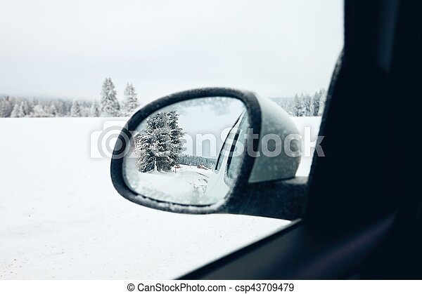 Winter on the road - csp43709479