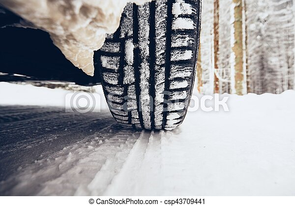 Winter on the road - csp43709441