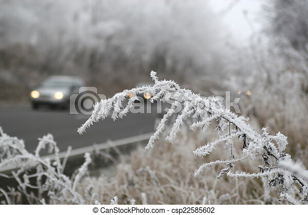 Winter on the road - csp22585602
