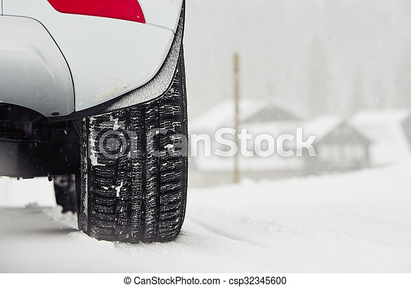 Winter on the road - csp32345600