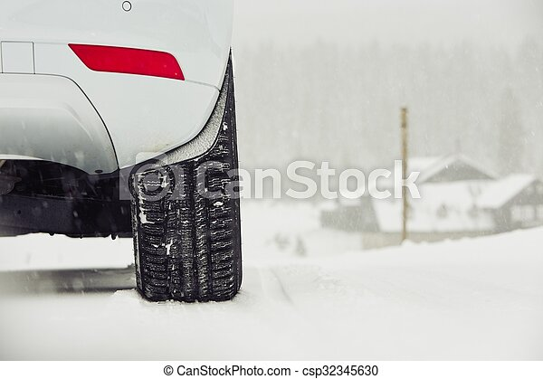 Winter on the road - csp32345630